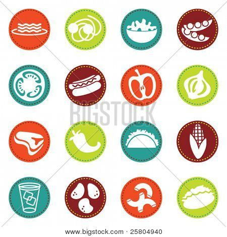 vector food icons set 8