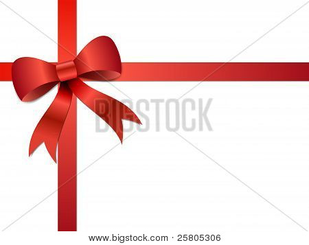Christmas gift Bow illustration