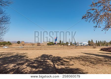 Meyerton, South Africa, July 30, 2018: A Blockhouse, Dating From The Boer War Is Visible Next To The