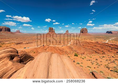 Panoramic View Of Monument Valley At Summertime In Arizona - Utah, Usa
