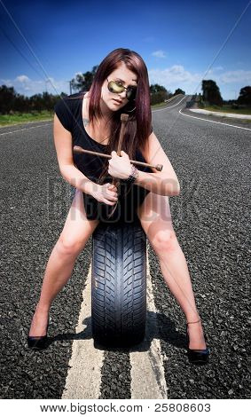 Tire Mechanic With Tyre