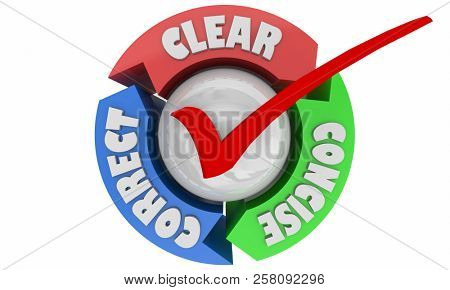 Clear Concise Correct Communication Understanding 3d Illustration