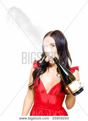 Champagne Celebration With A Splash Of Success