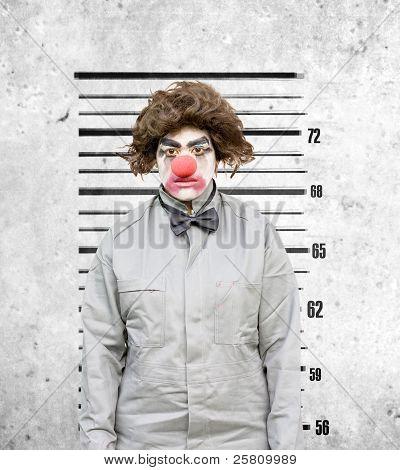 Clown Mug Shot