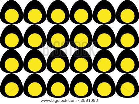Background With Black Eggs