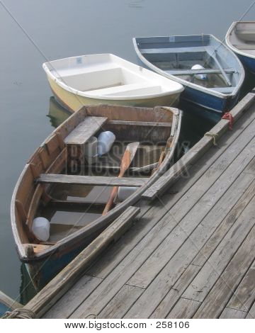 Dories By A Dock