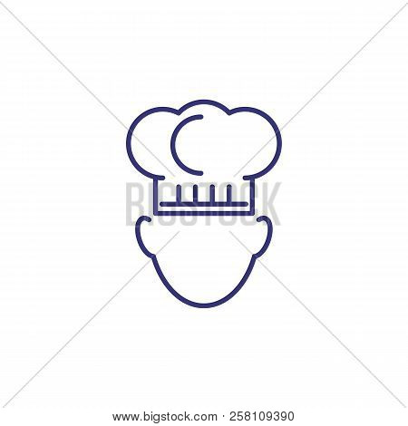 Chef In Cooking Hat Line Icon. Menu, Kitchen, Cookery. Restaurant Concept. Vector Illustration Can B