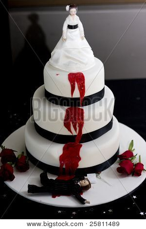 Killer Bride Wedding Cake