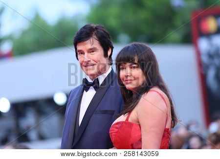 Ronn Moss and Devin DeVasquez walk the red carpet ahead of the 'One Nation One King (Un Peuple Et Son Roi)' screening during the Venice Festival at Sala Grande on September 7, 2018 in Venice, Italy.