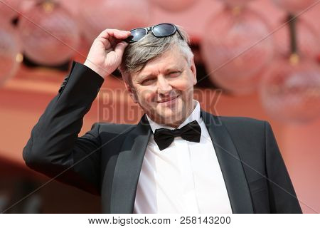 Director Sergei Loznitsa attends 'Process' red carpet during the 75th Venice Film Festival at Sala Casino on September 7, 2018 in Venice, Italy.