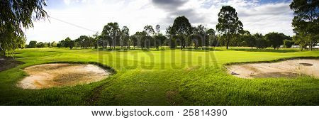 Golf Course Landscape Panorama