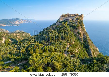 Old Ruins Of Angelokastro Fortress, Corfu Island, Greece