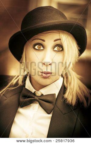 Vintage Surprise - Woman Looking Surprised