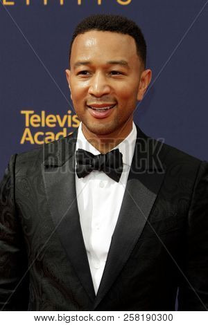 LOS ANGELES - SEP 9:  John Legend at the 2018 Creative Arts Emmy Awards - Day 2 - Arrivals at the Microsoft Theater on September 9, 2018 in Los Angeles, CA