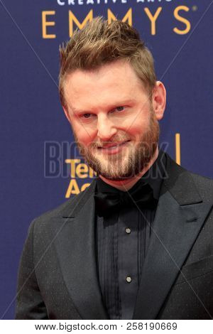 LOS ANGELES - SEP 9:  Bobby Berk at the 2018 Creative Arts Emmy Awards - Day 2 - Arrivals at the Microsoft Theater on September 9, 2018 in Los Angeles, CA
