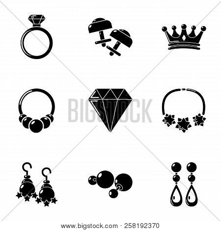 Rhomboid Icons Set. Simple Set Of 9 Rhomboid Vector Icons For Web Isolated On White Background