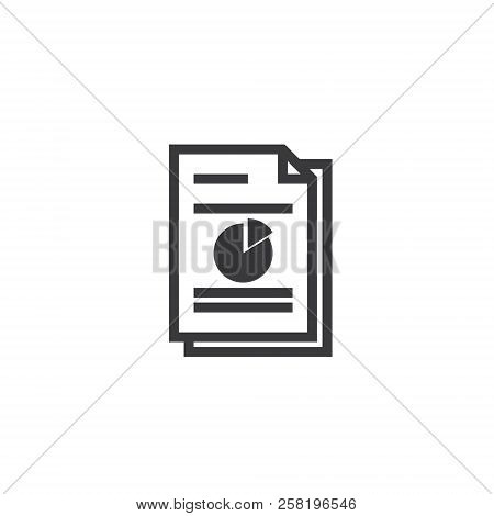 Spreadsheet Document Paper Outline Icon. Isolated Note Paper Icon In Thin Line Style For Graphic And