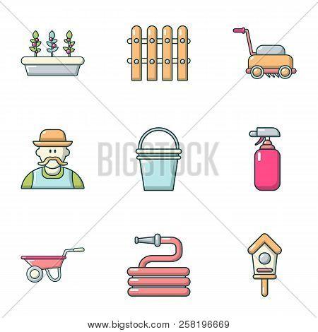 Construction Of The Home Icons Set. Cartoon Set Of 9 Construction Of The Home Vector Icons For Web I