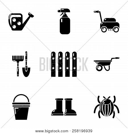 Cottage In The Country Icons Set. Simple Set Of 9 Cottage In The Country Vector Icons For Web Isolat