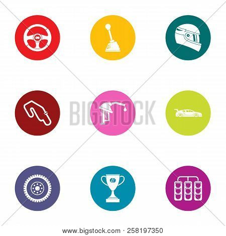 Road Commerce Icons Set. Flat Set Of 9 Road Commerce Vector Icons For Web Isolated On White Backgrou