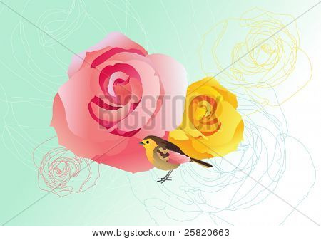 Rose and Bird