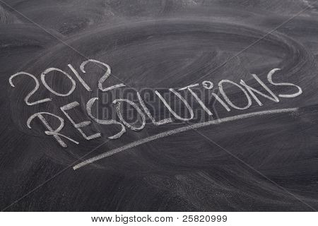 2012 Resolutions On Blackboard