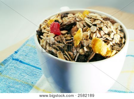 Bowl Of Breakfast Cereals