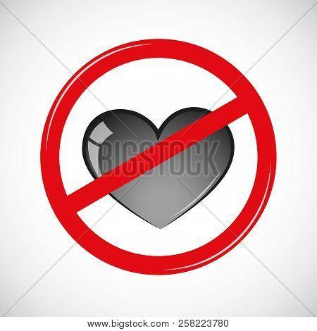 Forbidden Love Sign Vector Photo Free Trial Bigstock