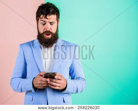 Businessman Play Game. Business People Use Internet Modern Technology. Internet Surfing Social Netwo