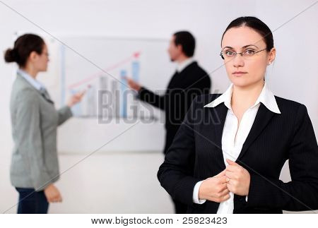 A Businesswoman In A Meeting