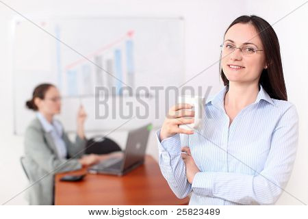 Businesswoman In A Meeting Room