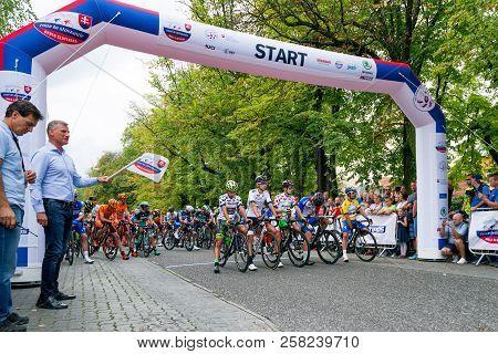 Ruzomberok, Slovakia - September 14: Start Of Second Stage Of Tour De Slovakia On  September 14, 201