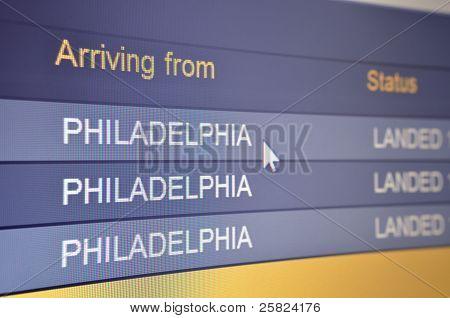Flight Arriving From Philadelphia