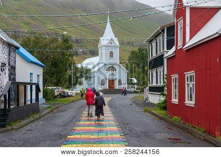 Quaint Artist Town Of Seydisfjordur, Iceland