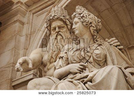 Albrecht or Danubius fountain, Albertina, Wien