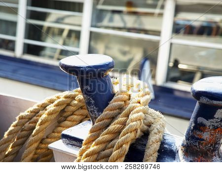 Rope Of A Boat, Close Up, Horizontal Image