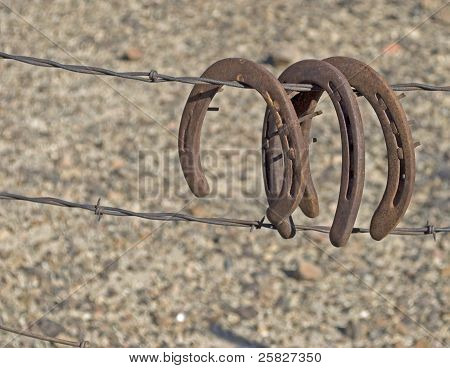 Old worn-out horseshoes from mining ghost town