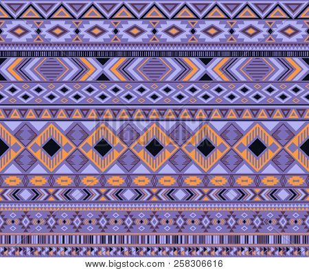 Navajo American Indian Pattern Tribal Ethnic Motifs Geometric Vector Background. Cute Native America