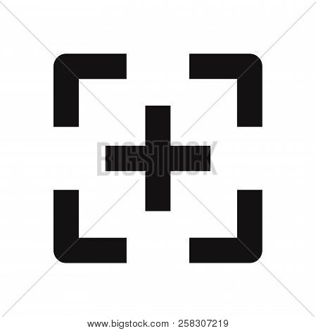 Focus Icon Isolated On White Background. Focus Icon In Trendy Design Style. Focus Vector Icon Modern