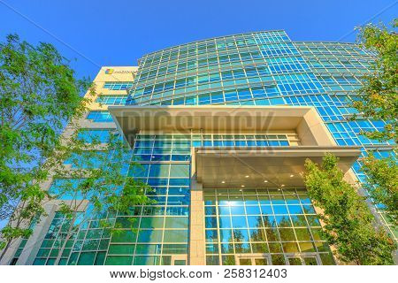 Sunnyvale, Ca, Usa - August 13, 2018: Microsoft Corp. In Silicon Valley. Microsoft Is The Biggest So