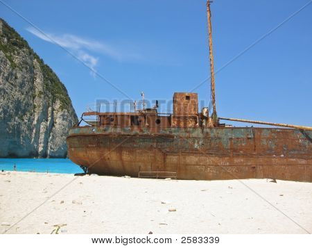 Famous Shipwreck On Zakynthos Greece 3