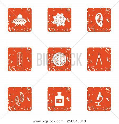 Threat From Outside Icons Set. Grunge Set Of 9 Threat From Outside Icons For Web Isolated On White B