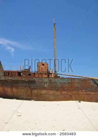 Famous Shipwreck On Zakynthos Greece 1