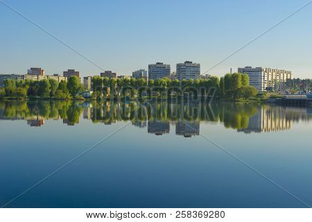 Windless Morning On The Lake In Minsk