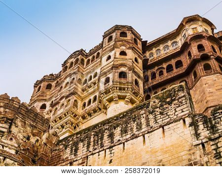 Majestic Maharajah Palace In Mehrangarh Fort, Jodphur, Rajasthan, India