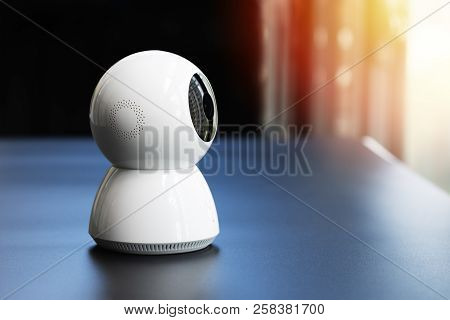 Wireless Cctv Security Camera Operating In Home