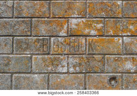 Pavement. Sidewalk Tiles Background. Pavement Tiles. Top View. Closeup. Footpath. Sidewalk. Dirty Pa