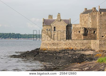 Blackness Castle At Coast Firth Of Forth In Sotland