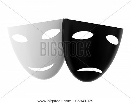 Black And White Theatre Masks