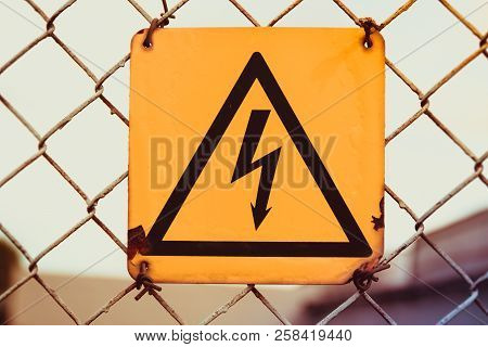 The Sign Is Dangerous. Warning Sign Of Danger
